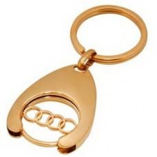 """Брелок """"Audi"""" из красного золота.."""