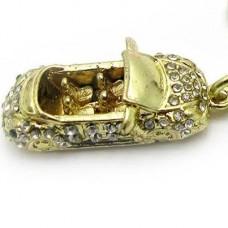 """Брелок """"Автолюбителя"""" из желтого золота с бриллиантами.."""