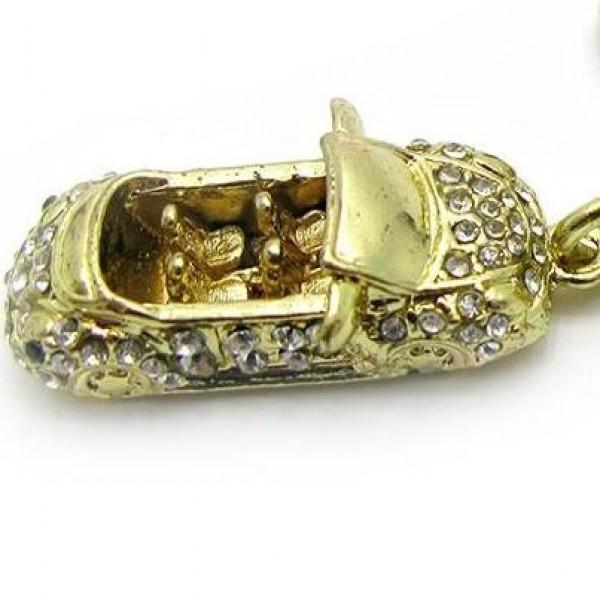"""Брелок """"Автолюбителя"""" из желтого золота с бриллиантами"""