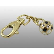 """Брелок """"Футбольный мяч"""" из желтого золота с бриллиантами.."""