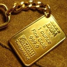 Брелок из чистого золота..