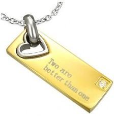 Брелок из комбинированного золота с бриллиантом..