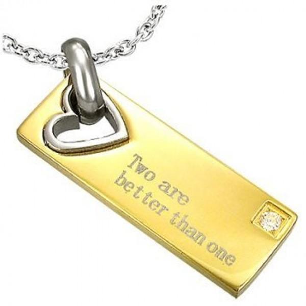 Брелок из комбинированного золота с бриллиантом