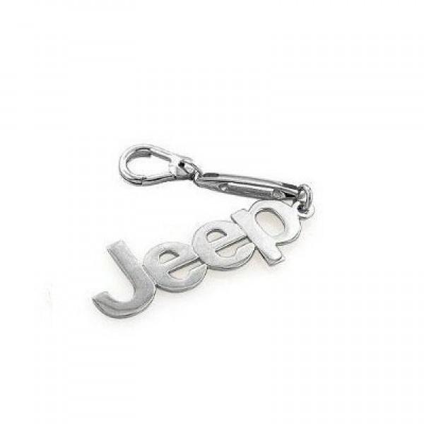 """Брелок """"Jeep"""" из белого золота с карабином"""