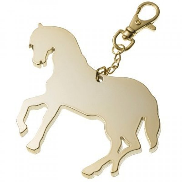 """Брелок """"Лошадь"""" из белого золота"""