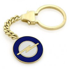 """Брелок """"Opel"""" из желтого золота с эмалью.."""