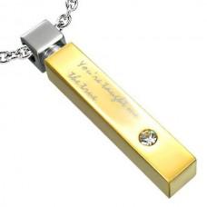 Брелок полый из комбинированного золота с бриллиантом..