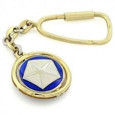 """Брелок """"Сhrysler"""" из комбинированного золота с эмалью.."""