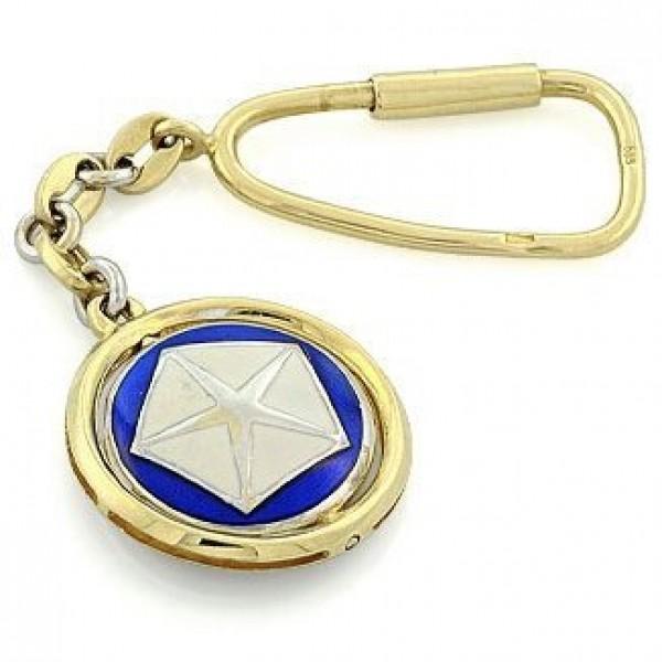 """Брелок """"Сhrysler"""" из комбинированного золота с эмалью"""