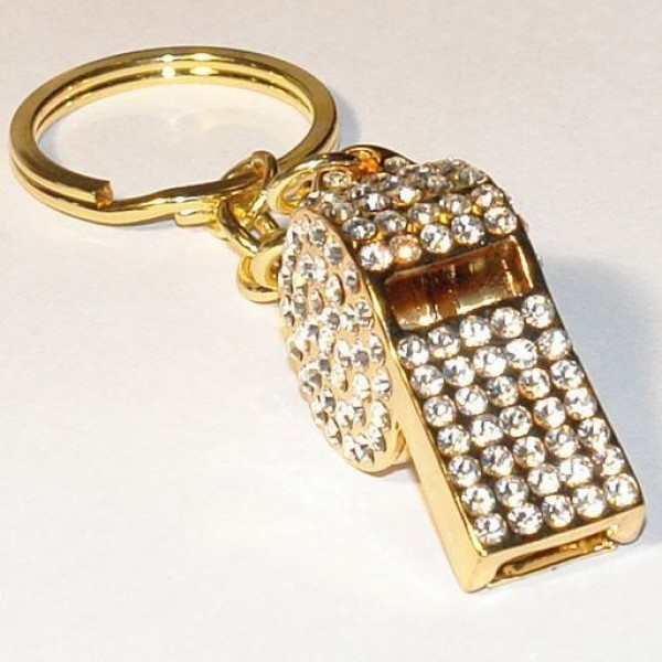 "Брелок ""Свисток"" из желтого золота с бриллиантами"