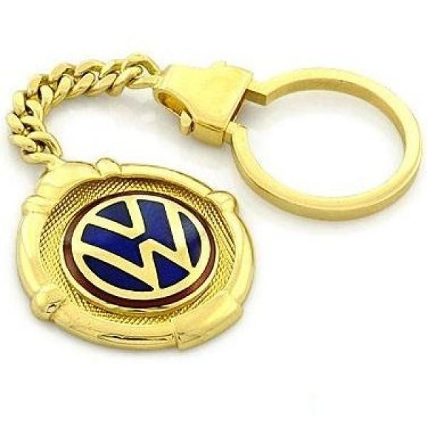 "Брелок ""VW"" из желтого золота"