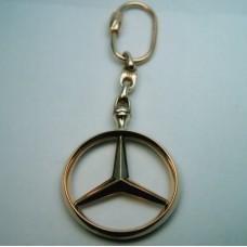 """Брелок """"Mercedes"""" из комбинированного золота.."""