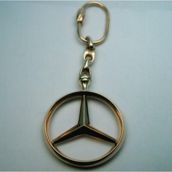 """Брелок """"Mercedes"""" из комбинированного золота"""