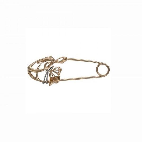 Брошь-булавка из комбинированного золота 'Бабочка'