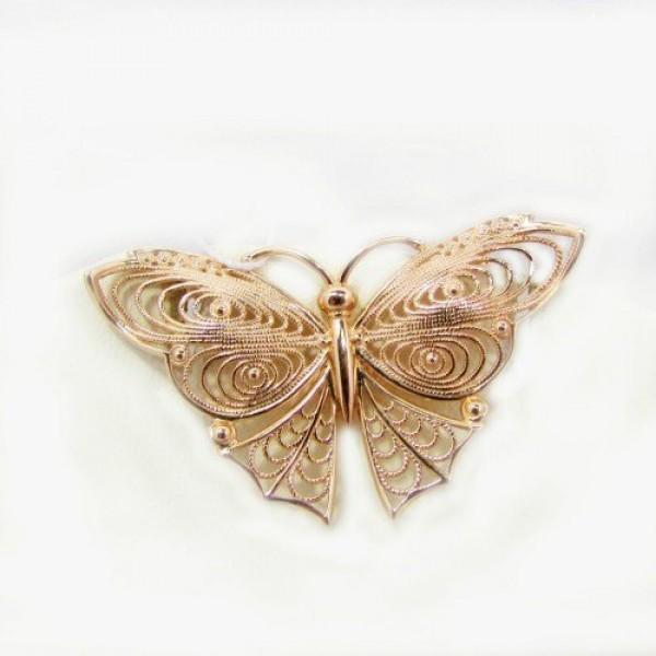 Брошь из желтого золота 'Бабочка'