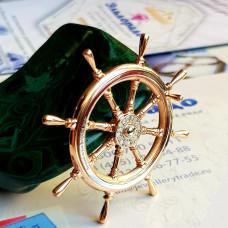 Штурвал из комбинированного золота с бриллиантами..