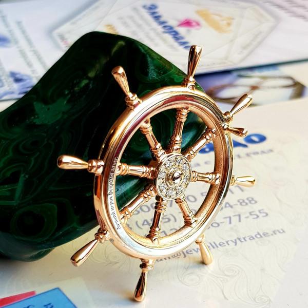 Штурвал из комбинированного золота с бриллиантами