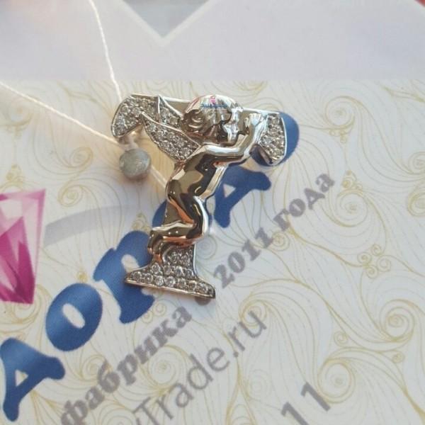 Кулон 'Ангел Т' из Белого золота 750 пробы