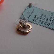 "Кулон ""Chaumet"" из комбинированного золота с бриллиантами.."