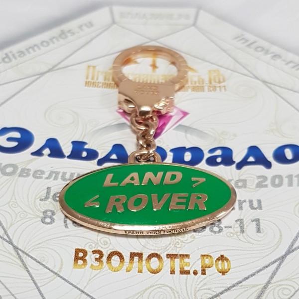 """Золотой брелок """"Land Rover"""""""