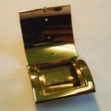 Пепельница из комбинированного золота с бриллиантами..