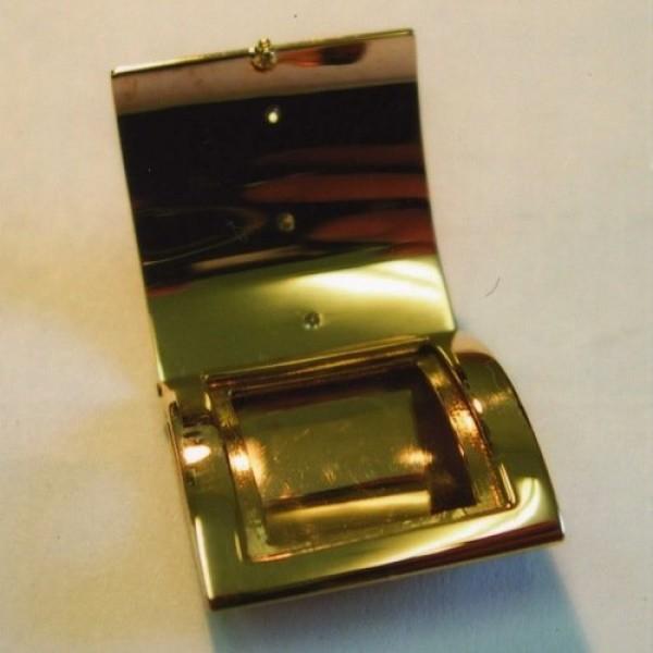 Пепельница из комбинированного золота с бриллиантами