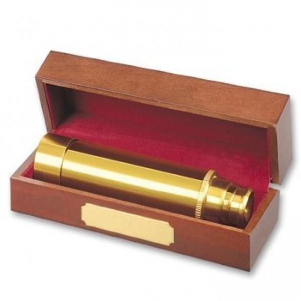 """Сувенир """"Труба подзорная"""" из желтого золота"""