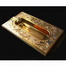 Визитница из красного золота с бриллиантом..