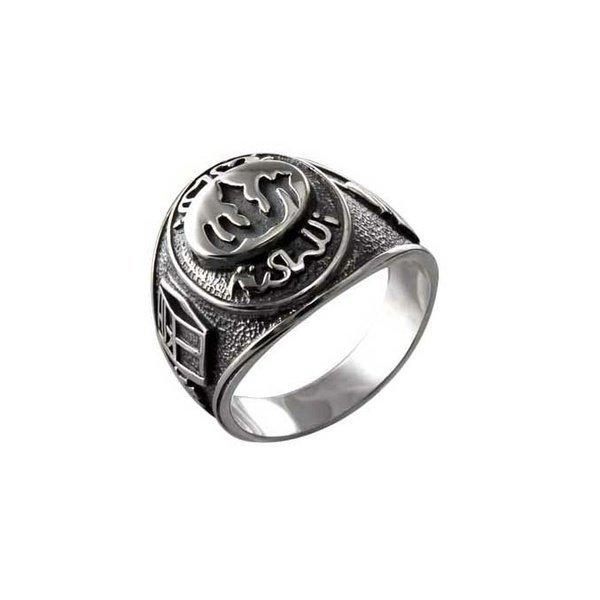 Мусульманский мужской перстень из белого золота