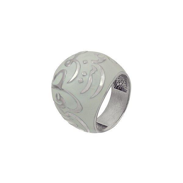 Мусульманский перстень из белого золота с эмалью