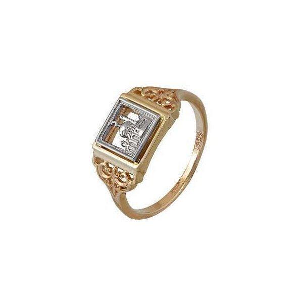 Мусульманское кольцо из комбинированного золота