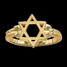 """Кольцо """"Звезда Давида"""" из желтого золота.."""