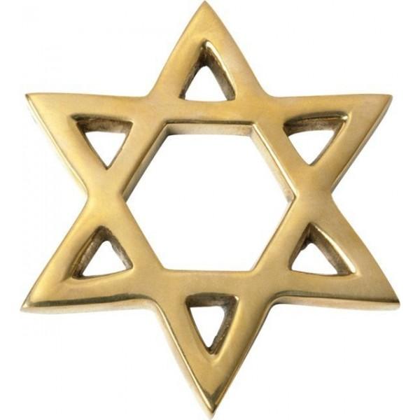 Звезда Давида из желтого золота