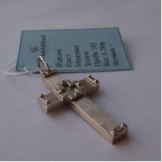 Крест католический из белого золота..