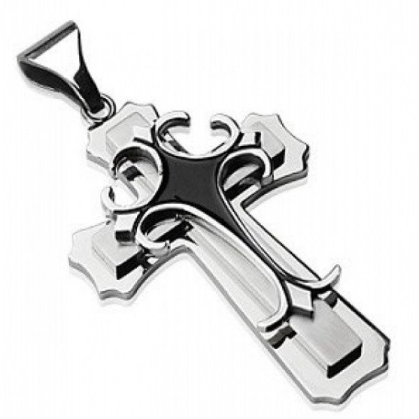 Крест Католический из комбинированного золота