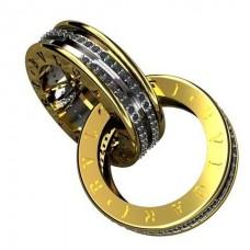 "Кулон ""BVLGARI"" из комбинированного золота с бриллиантами.."