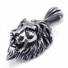 Кулон 'Голова льва' из белого золота..