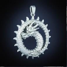 Кулон из белого золота 'Дракон'..