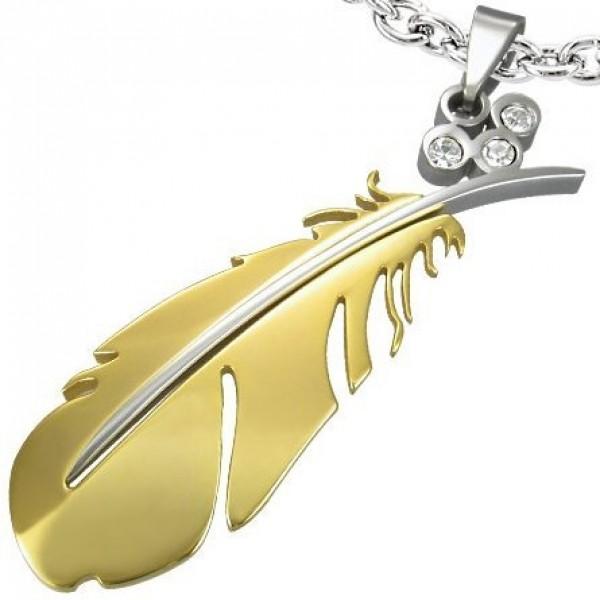 Кулон из комбинированного золота с бриллиантами