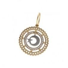 Кулон из комбинированного золота с бриллиантами..