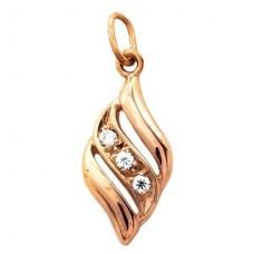 Кулон из красного золота с бриллиантами..