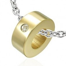 Кулон из желтого золота с бриллиантом..