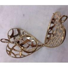 Кулон из желтого золота с кольцом с бриллиантом..