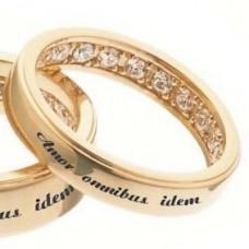 """Кулон """"Кольцо"""" из розового золота с бриллиантами.."""