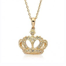 "Кулон ""Корона"" из желтого золота с бриллиантами.."