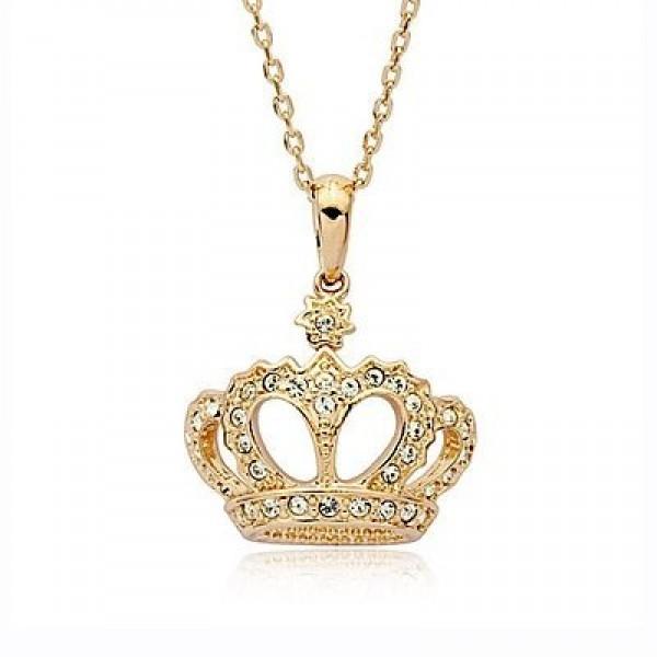 "Кулон ""Корона"" из желтого золота с бриллиантами"