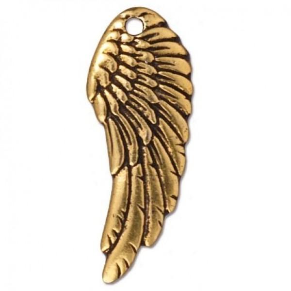 """Кулон """"Крыло"""" из желтого золота"""