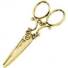"""Кулон """"Ножницы"""" из желтого золота.."""