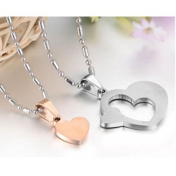 Кулон 'Сердце' для двоих из комбинированного золота