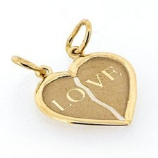 "Кулон ""Сердце"" из желтого золота.."